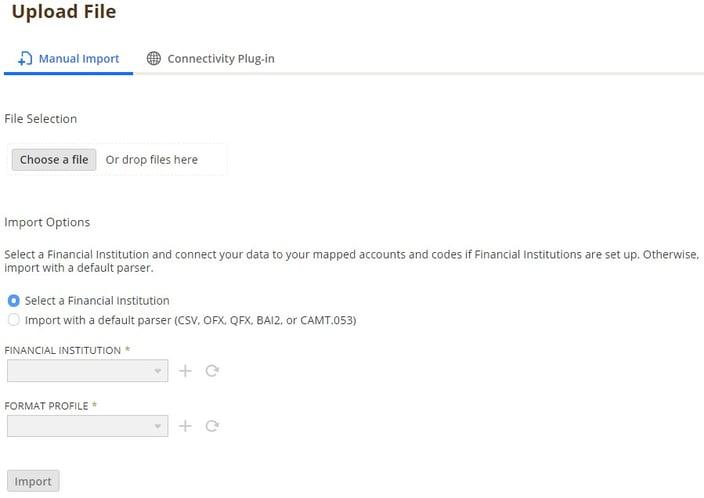 NetSuite Bank Upload form